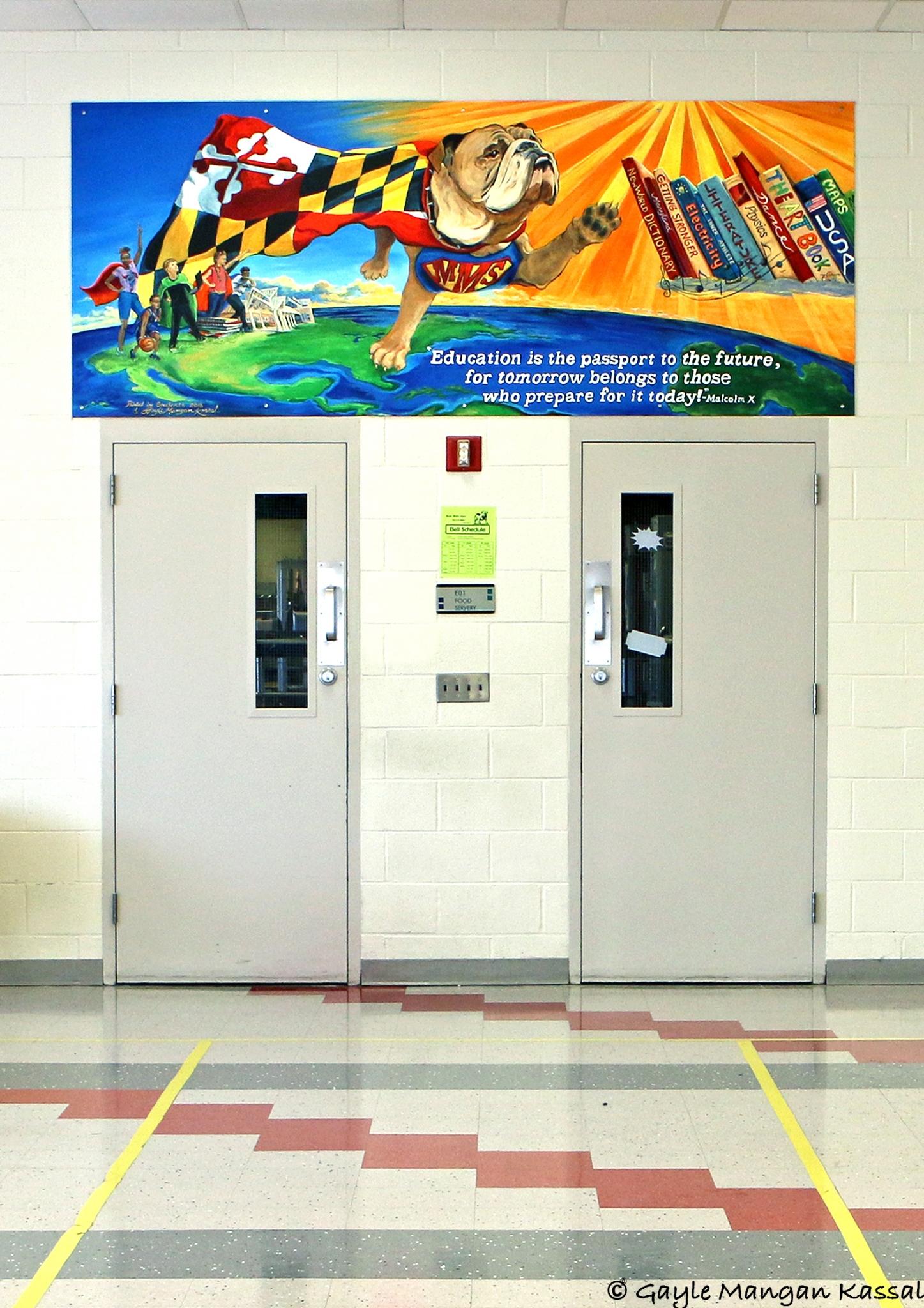 Meade Middle School Mural by Gayle Kassal